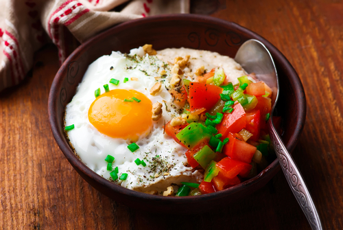 Savory Oatmeal With Egg