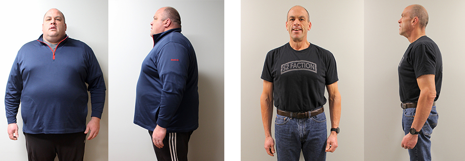 Mike's weight loss transformation